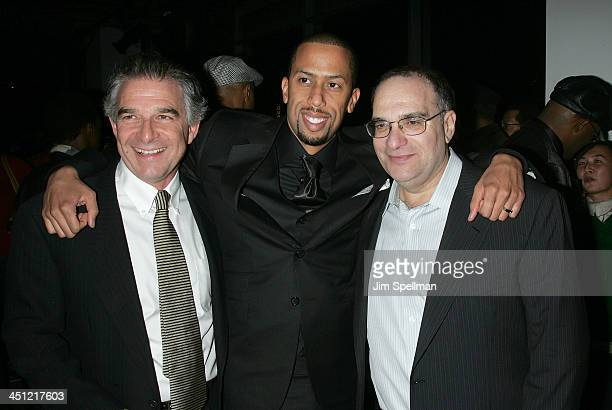 Charles Castaldi actor Affion Crockett and producer Bob Weinstein attends the after party for the premiere of Soul Men at the Hip Hop Center of...