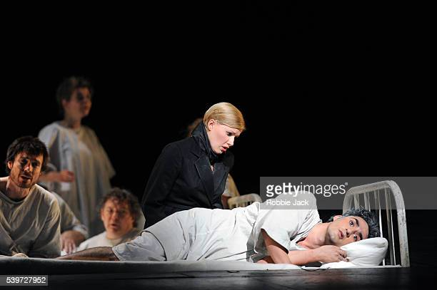 Charles Castronovo and Sally Matthews perform with artists of the company in the Royal Opera's production of Igor Stravinsky's opera The Rake's...