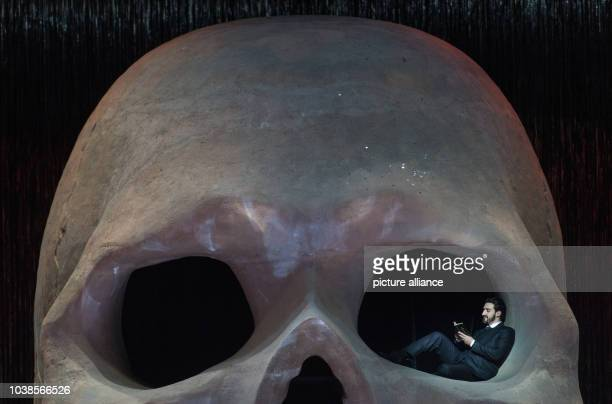 Charles Castronovo as Faust rehearses the opera 'Mefistofele' at the festival theater in BadenBadenGermany 09 May 2016 The opera by Italian composer...