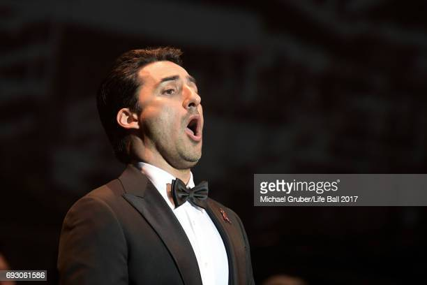Charles Castronovo performs on stage during the Life Celebration Concert at Burgtheater on June 6 2017 in Vienna Austria The concert marks the...