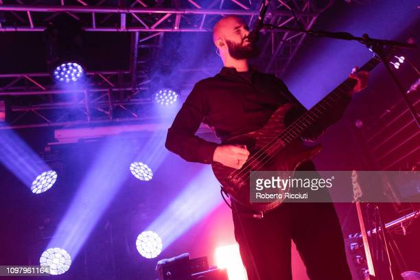 Charles Cave of White Lies performs on stage at The Liquid Room on February 11 2019 in Edinburgh Scotland