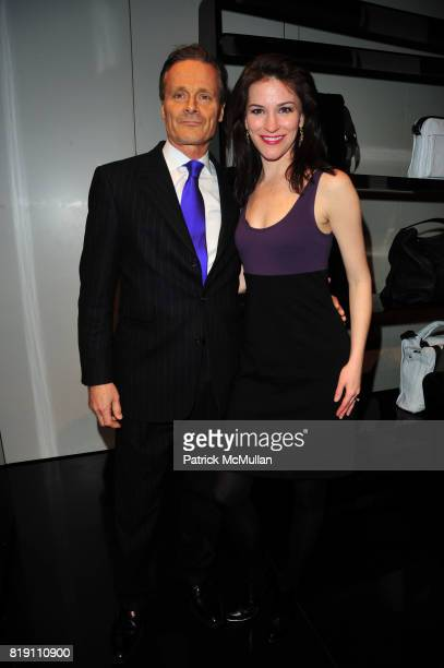 Charles Cecil and Janis Gardner Cecil attend ARMANI Red Carpet Retrospective hosted by Amy Fine Collins in partnership with Vanity Fair at Armani on...