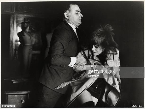 Charles Cioffi as Peter Cable manhandles callgirl Bree Daniels played by Jane Fonda in a scene from the 1971 film Klute directed by Alan J Pakula