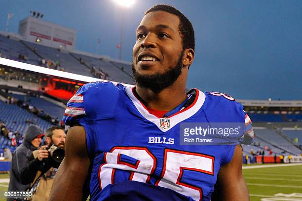 Charles Clay of the Buffalo Bills on the field following the game against the Miami Dolphins at New Era Field on December 24 2016 in Orchard Park New...