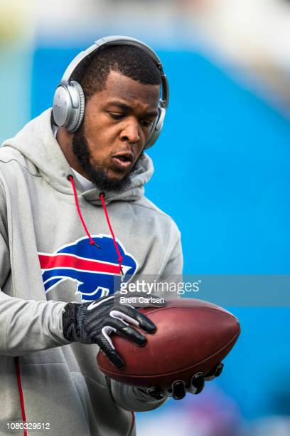 Charles Clay of the Buffalo Bills warms up before the game against the New York Jets at New Era Field on December 9 2018 in Orchard Park New York New...