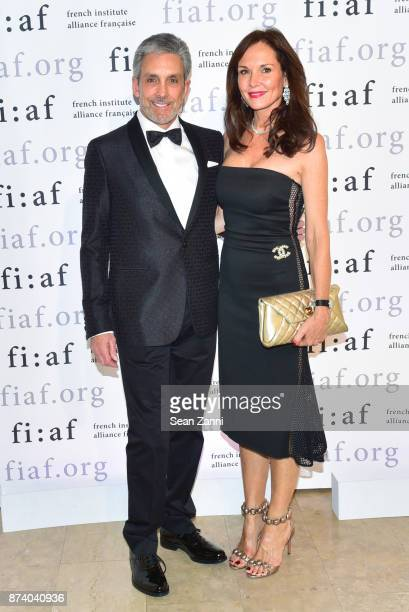 Charles Cohen and Clo Cohen attend Sidney Toledano and Peter Marino being honored at French Institute Alliance Francaise's Trophee des Arts Gala at...