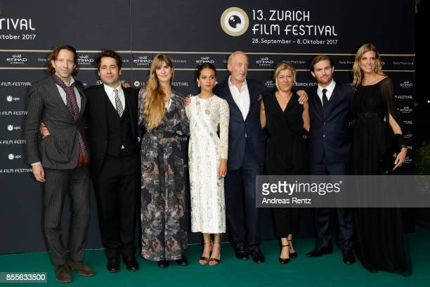 Charles Collier Festival director Karl Spoerri Lisa Langseth Alicia Vikander Charles Dance Frida Bargo Mark Stanley and Festival director Nadja...