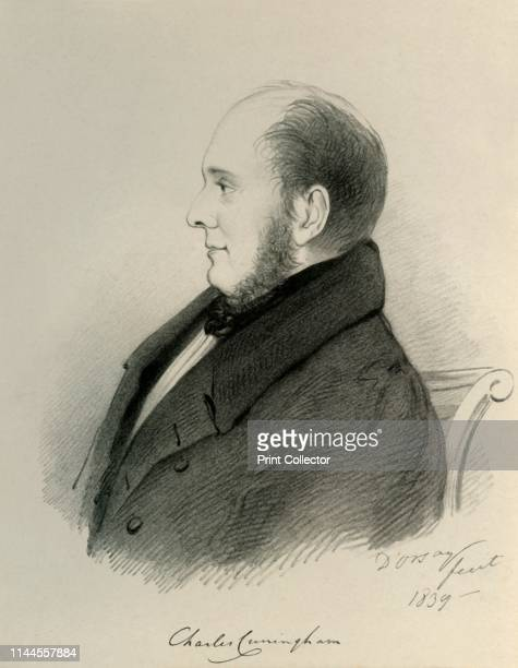 """Charles Cunningham', 1839. From """"Portraits by Count D'Orsay"""", an album assembled by Lady Georgiana Codrington. [1850s]. Artist Alfred d'Orsay."""