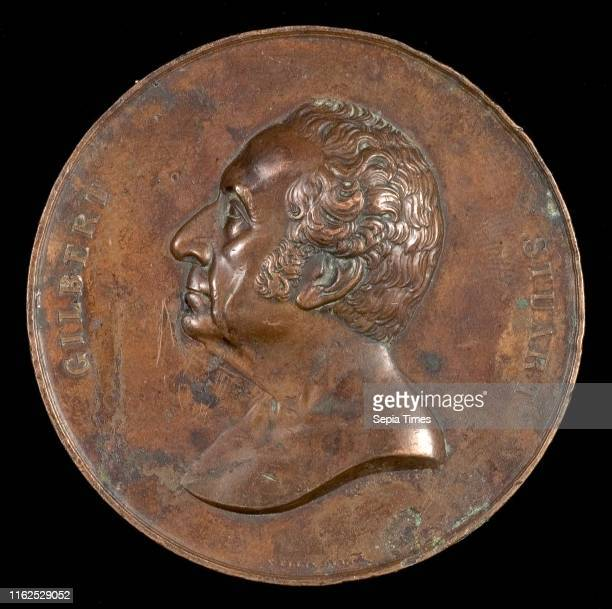 Charles Cushing Wright die engraver after design by Salathiel Ellis Gilbert Stuart 17551828 Painter [obverse] American 1806 after 1864 bronze