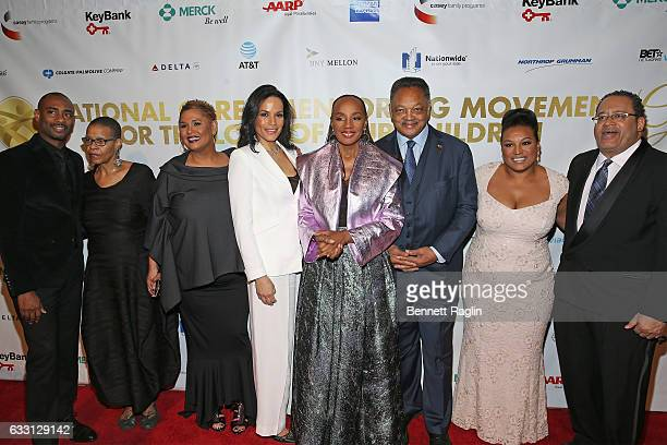 Charles D King Terrie Williams Asha Bandele Crystal McCrary Susan L Taylor Jesse Jackson Chivonne J Williams and Michael Eric Dyson attend the...