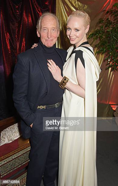Charles Dance and Gwendoline Christie attend the Game Of Thrones Season 5 UK Premiere After Party at the Tower of London on March 18 2015 in London...