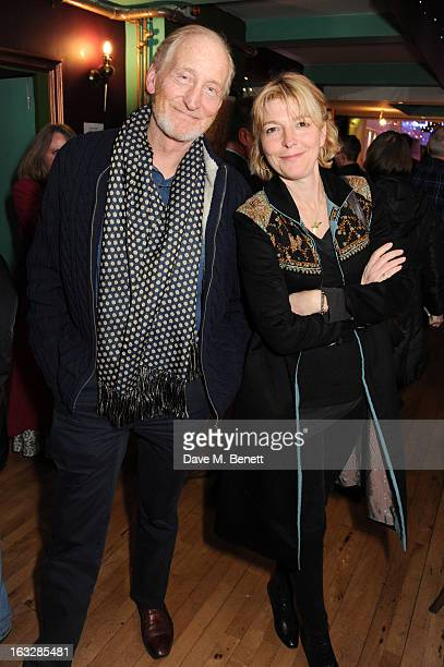 Charles Dance and Jemma Redgrave attend an after party following the 'Paper Dolls' press night at Tricycle Theatre on March 6 2013 in London England