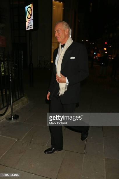 Charles Dance arrives at the Dunhill GQ preBAFTA Filmmakers Dinner and Party Cohosted by Andrew Maag Dylan Jones at Bourdon House on February 15 2018...