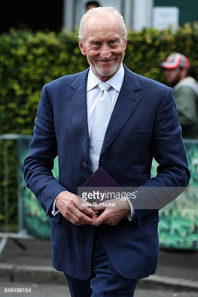 Charles Dance arrives at Wimbledon on July 8 2016 in London England