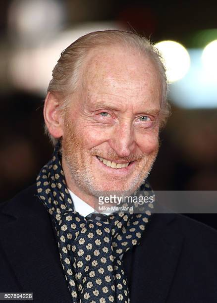 Charles Dance attend the red carpet for the European premiere for Pride And Prejudice And Zombies on at Vue West End on February 1 2016 in London...