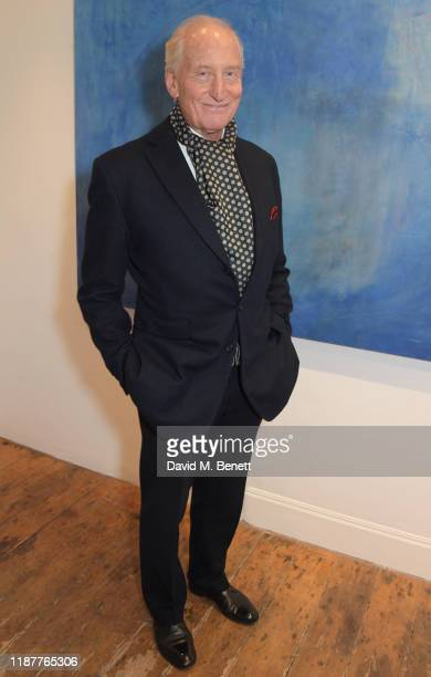 Charles Dance attends a private view of 'Into The Blue' by artist Irene Petrafesa at AD Gallery on December 10 2019 in London England