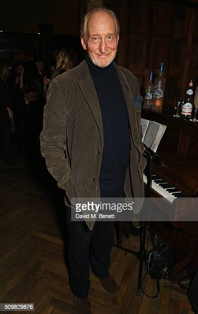Charles Dance attends Harvey Weinstein's preBAFTA dinner in partnership with Burberry and GREY GOOSE at Little House Mayfair on February 12 2016 in...