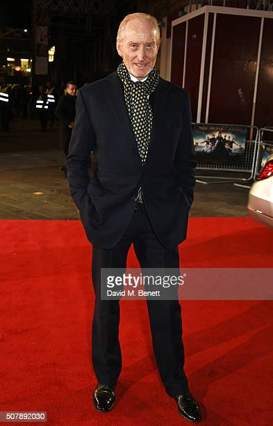 Charles Dance attends the European Premiere of Pride And Prejudice And Zombies at the Vue West End on February 1 2016 in London England