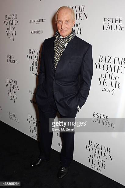 Charles Dance attends the Harper's Bazaar Women Of The Year awards 2014 at Claridge's Hotel on November 4 2014 in London England