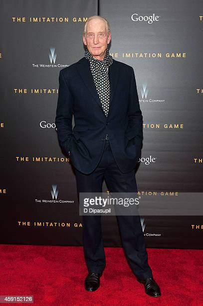 Charles Dance attends The Imitation Game New York Premiere at the Ziegfeld Theater on November 17 2014 in New York City