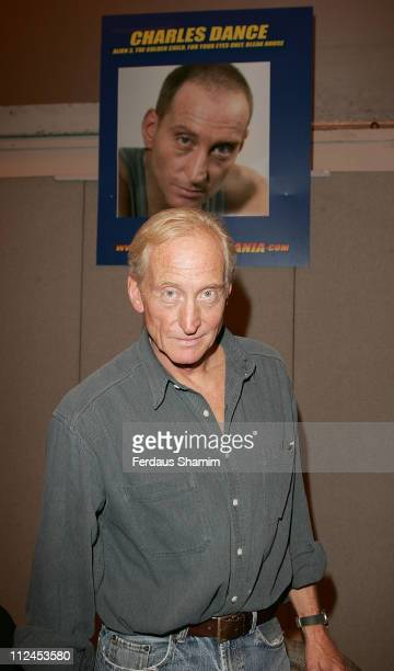 Charles Dance attends the London Film and Comic Convention at Earls Court on July 19 2008 in London England