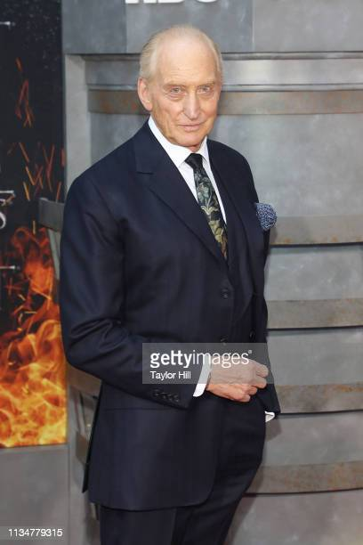 Charles Dance attends the premiere of Game of Thrones at Radio City Music Hall on April 3 2019 in New York City