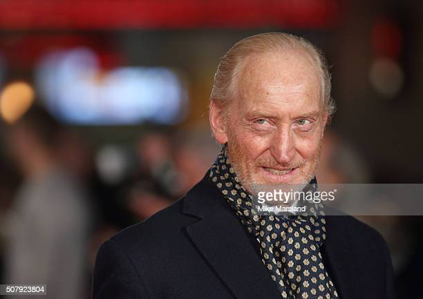 Charles Dance attends the red carpet for the European premiere for Pride And Prejudice And Zombies on at Vue West End on February 1 2016 in London...