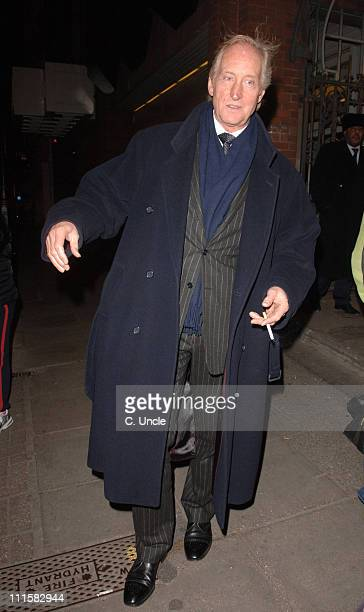 Charles Dance during Embers Press Night at Duke of York Theatre in London Great Britain