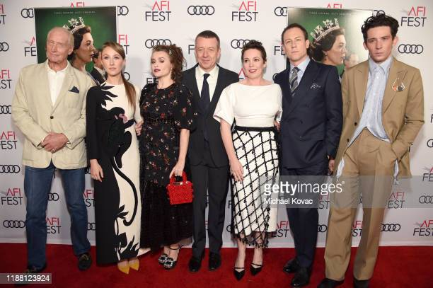 Charles Dance, Erin Doherty, Helena Bonham Carter, Peter Morgan, Olivia Colman, Tobias Menzies and Josh O'Connor attend the Peter Morgan Tribute...