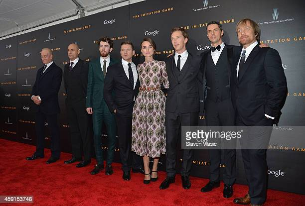 Charles Dance Mark Strong Matthew Beard Allen Leech Keira Knightley Benedict Cumberbatch Matthew Goode and Morten Tyldum attend the 'The Imitation...