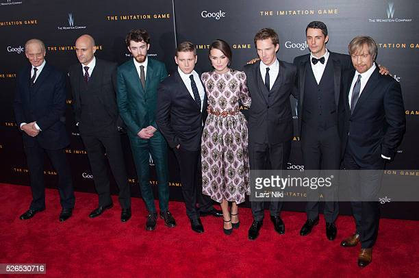 Charles Dance Mark Strong Matthew Beard Allen Leech Keira Knightley Benedict Cumberbatch Matthew Goode and Morten Tyldum attend 'The Imitation Game'...