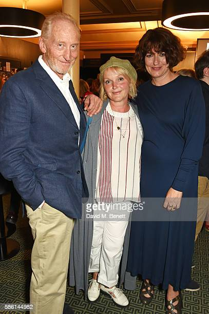 Charles Dance Miranda Richardson and Anna Chancellor attend the UK Premiere of 'The Carer' at the Regent Street Cinema on August 5 2016 in London...