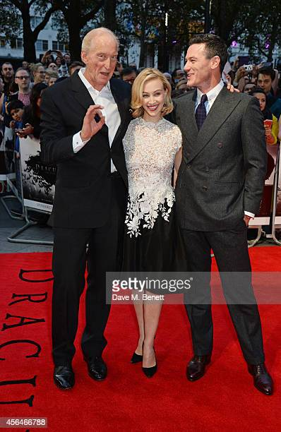 Charles Dance Sarah Gadon and Luke Evans attend the UK Premiere of Dracula Untold at Odeon West End on October 1 2014 in London England