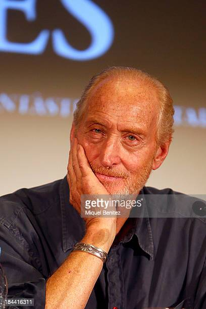 Charles Dance speaks during the 'Games of Thrones' press conference at the 46th Sitges Film Festival on October 13 2013 in Sitges Spain
