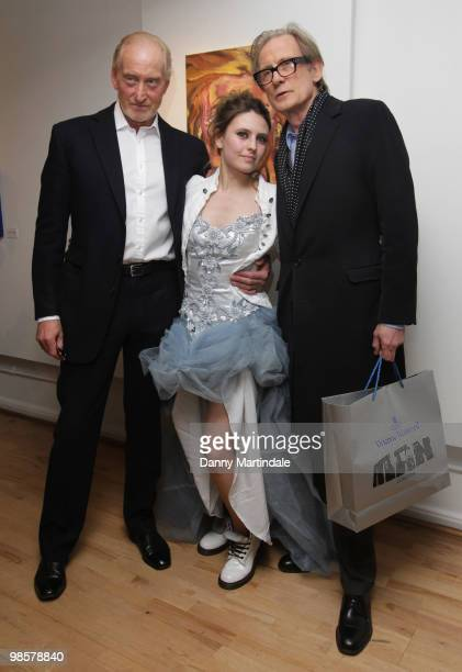 Charles Dance Triana De Lamo and Bill Nighy attend the private view of the Soho Lights exhibition on April 20 2010 in London England
