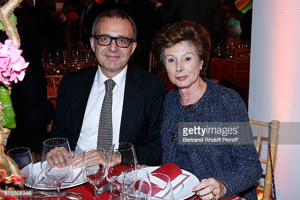 Charles Dantzig and MarieLouise de Clermont Tonnerre attend the Societe des Amis du Musee d'Art Moderne Dinner Party at the Musee d'Art Moderne on...