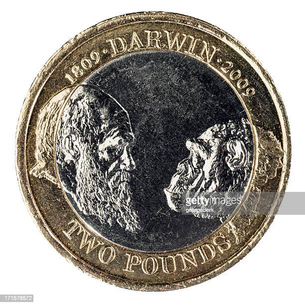 Charles Darwin Anniversary Two Pound Coin