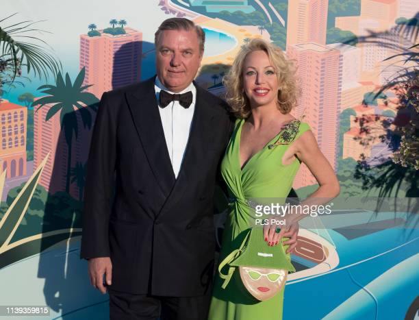 Charles de Bourbon des Deux Siciles and Camilla de Bourbon des Deux Siciles attend the Rose Ball 2019 to benefit the Princess Grace Foundation on...