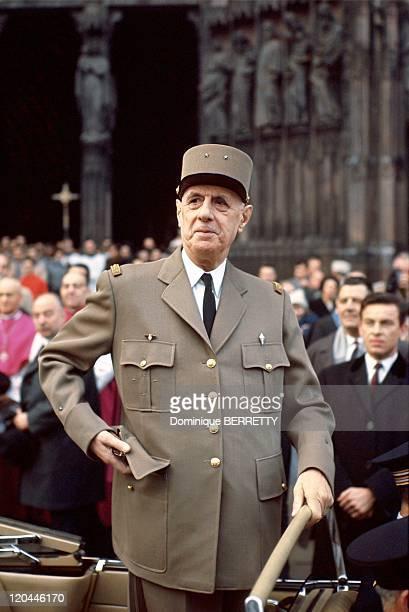 Charles De Gaulle In Le Havre France In 1945