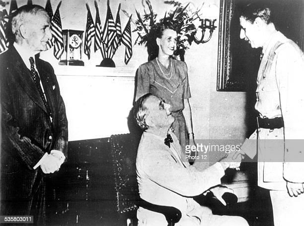 Charles de Gaulle's official visit to Franklin Roosevelt World War II 1944