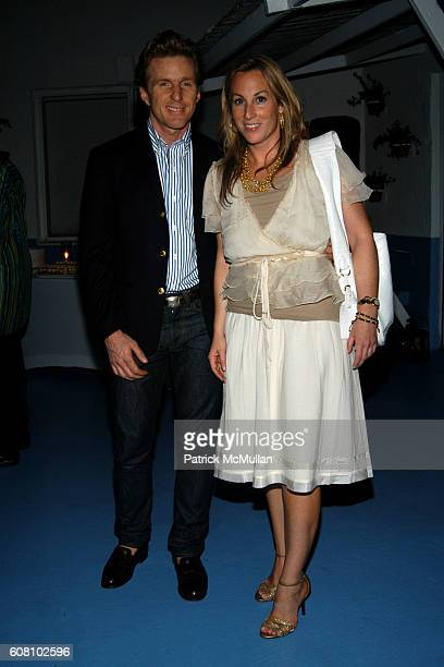 Charles Deigan and Alice Ryan attend Dinner Hosted by Marcel Wanders at ART BASEL at Solarium on December 7 2006