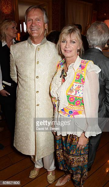 Charles Delevingne and Pandora Delevingne attend the launch of Dame Joan Collins' new book The St Tropez Lonely Hearts Club at Harry's Bar on May 5...