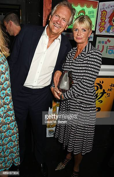Charles Delevingne and Pandora Delevingne attend the Love Magazine miu miu London Fashion Week party at Loulou's on September 21 2015 in London...