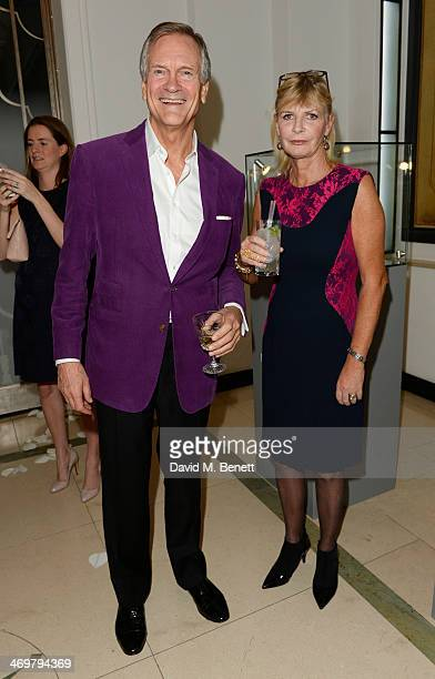 Charles Delevingne and Pandora Delevingne attend the Mulberry dinner to celebrate the launch of the Cara Delevingne Collection at Claridge's Hotel on...