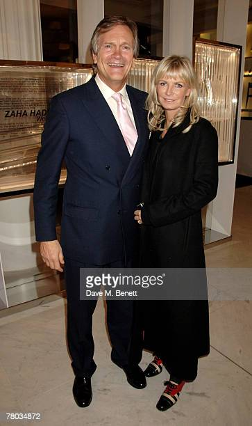 Charles Delevingne and wife attend the launch of 'The Wonder Room' at Selfridges on November 20 2007 in London England