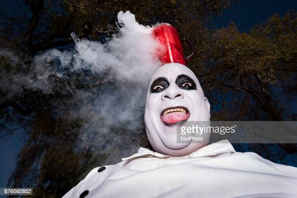 Charles Delvalle as Uncle Fester poses for the picture during the Doo Dah Parade in Pasadena California on November 19 2017 The eccentric parade...