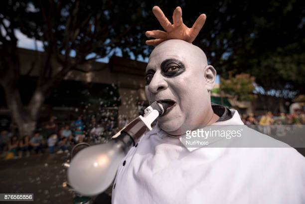 Charles Delvalle parades as Uncle Fester during the Doo Dah Parade in Pasadena California on November 19 2017 The eccentric parade celebrated 40...
