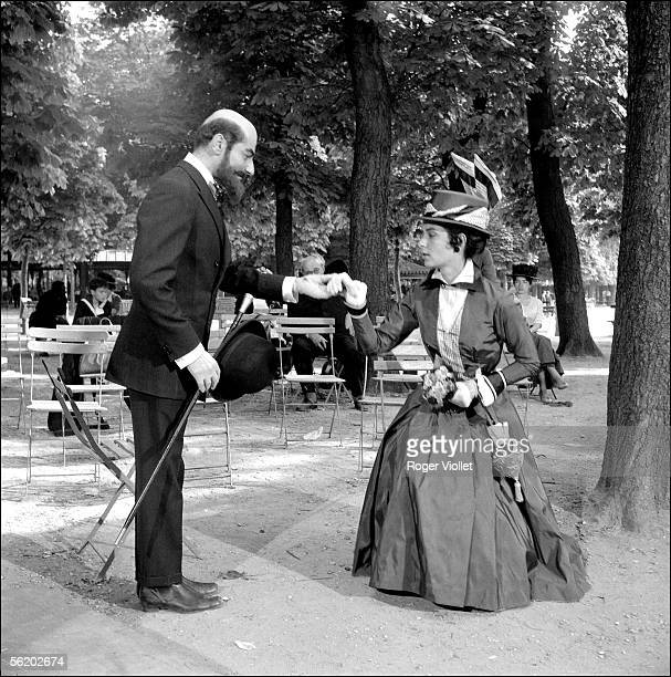 """Charles Denner and Juliette Mayniel in the film """"Landru"""" by Claude Chabrol. France. 1962."""