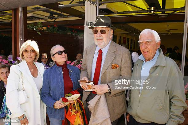 Charles Denner Phillipe Noiret and his wife attend the Lacoste lunch during the Roland Garros French Open Tennis Tournament