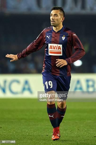 Charles Dias of SD Eibar reacts during the Copa del Rey second leg match between Celta de Vigo and SD Eibar at Estadio Balaidos on November 28 2017...